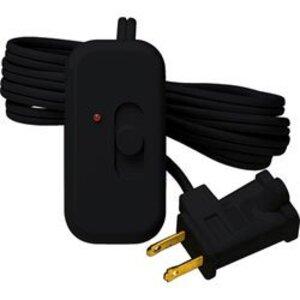 Lutron TT-300NLH-BL Slide Dimmer, 300W, Plug-In, Credenza, Black