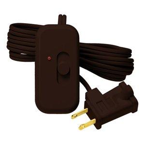 Lutron TT-300NLH-BR Slide Dimmer, 300W, Plug-In, Credenza, Brown