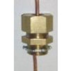 "M & W Electric KC4SO Grounding Electrode Connector, Size: 1/2"", 4 AWG Solid, Brass"
