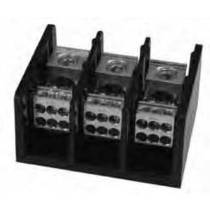 Marathon Special Products 1433553 Power Distribution Block, 3-Pole, 335A, 600V, (1) Line/(6) Load per Pole
