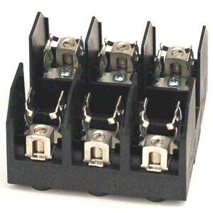 Marathon Special Products 6J30A3B Fuse Block, 30A, 600VAC, 200kA, 3P, Class J, Thermoplastic