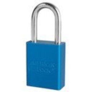 "Master Lock 49456 Aluminum Safety Padlock, Blue Body, 1-1/2"" Wide"