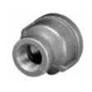 "Matco-Norca ZMBCPR0302 Reducing Coupling, 1/2 x 3/8"", Black, Malleable Iron"