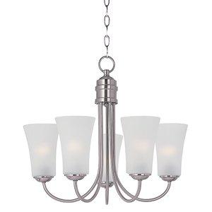 Maxim Lighting 10045FTSN Chandelier, 5-Light, 60W, Incandescent, Satin Nickel