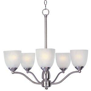 Maxim Lighting 10065FTSN Chandelier, 5-Light, 60W, Incandescent,  Satin Nickel