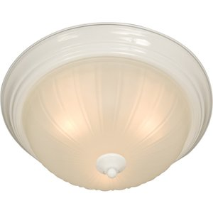 Maxim Lighting 5830FTWT 1-Light Flush Mount Ceiling Fixture, 60W, 120V
