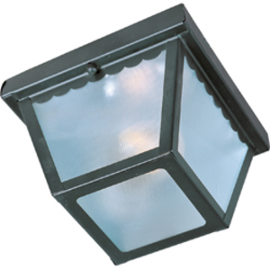 Maxim Lighting 6203FTBK Outdoor Ceiling Light, 1-Light, 60W, Incandescent, Black