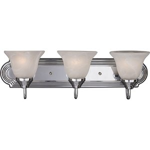 Maxim Lighting 8013MRPC Bath Vanity, 3-Light, 60W,Polished Chrome