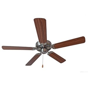 "Maxim Lighting 89905SNWP 52"" Ceiling Fan, Satin Nickel Finish,  Walnut/Pecan Blades"