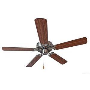 "Maxim Lighting 89905SNWP 52"" Ceiling Fan, Satin Nickel Finish,  Walnut/Pecan Blades"