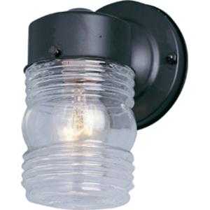 Maxim Lighting 92001CLBK 1-Light Outdoor Wall Mount Lantern, 60W, 120V