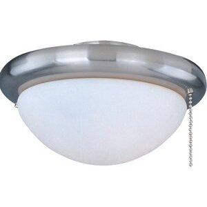 Maxim Lighting FKT206SN 1-Light Ceiling Fan Light Kit, 60W Incandescent