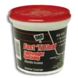 Metallics WDS20 DAP Fast 'n Final Lightweight Spackling, 1 Quart, White