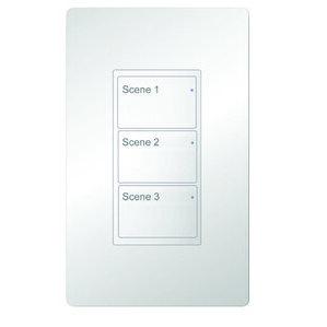 Metalux W3L-W WaveLinx, 3 Button Large Wallstation, White