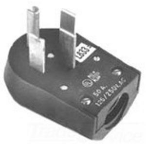 Midwest C54U 50 Amp Angle Plug, 125/250V, 14-50P, 3P4W, Black