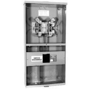 Milbank U3499-XL-100 Meter Main, 4 Jaw, Ringless, 100 Amp, Main Breaker, 120/240VAC