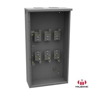 Milbank U4468-XT Current Transformer, Cabinets, 400A, NEMA 3R, 45H x 24W x 10D, Steel