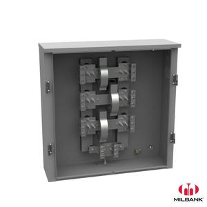 Milbank U5990-O Enclosure, Current Transformer, Mounting Rack Included, 10x36x36