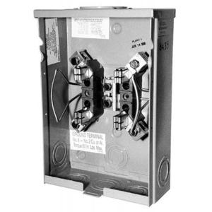 Milbank U8435-XL-TG-HSP Meter Base, 125A, 600VAC, 4 Jaw, Ringless, OH/UG Service, Blank Hub