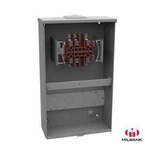 Milbank UC3423-XL Meter Socket, 20A, 600VAC, Ringless Type, 13 Jaw, NEMA 3R, No Bypass