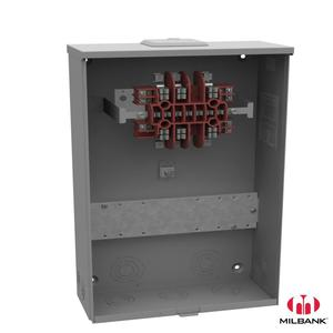 Milbank UC3433-XL Meter Socket, 20A, 600VAC, Ring Type, 13 Jaw, NEMA 3R, No Bypass