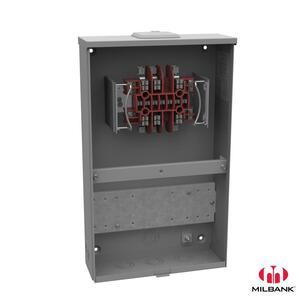 Milbank UC7449-XL Meter Socket, Current Transformer, 13 Jaw, 20A, 600VAC, Ringless