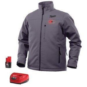 Milwaukee 201G-21-2X M12 Gray Heated Jacket Kit XXL