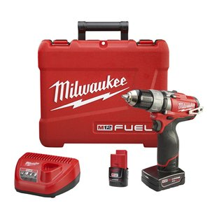 "Milwaukee 2403-22 M12 Fuel Drill/Driver Kit, 1/2"", 12V"