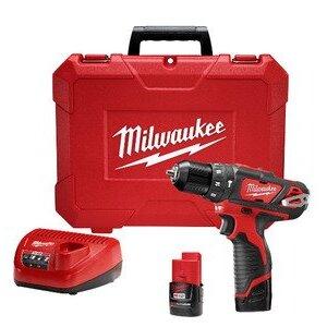 Milwaukee 2408-22 M12 Cordless Drill/Driver Kit