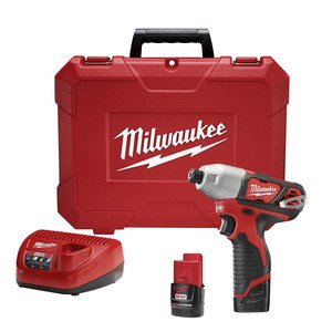 "Milwaukee 2462-22 M12™ ¼"" Hex Impact Driver Kit"