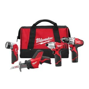 Milwaukee 2498-24 M12 Cordless Tool Kit