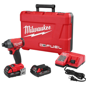 "Milwaukee 2753-22CT M18 FUEL 1/4"" Hex Impact Driver Kit"