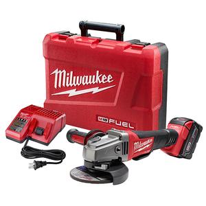 "Milwaukee 2780-21 M18 FUEL™ 4-1/2"" / 5"" Grinder, Paddle Switch No-Lock"