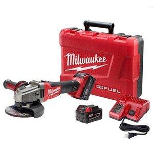 """Milwaukee 2781-22 M18 Fuel™ 4-1/2"""" / 5"""" Grinder, Slide Switch Lock-On Kit"""