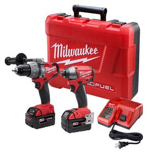 Milwaukee 2797-22 M18 FUEL Hammer Drill/Driver/Impact Combo Kit