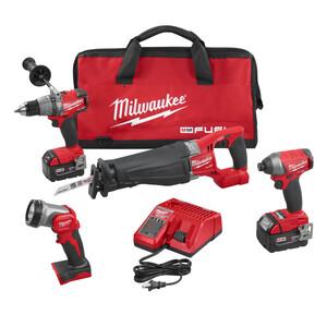 Milwaukee 2896-24 M18 Fuel Cordless 4-Tool Kit