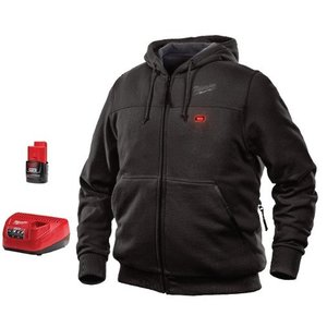 Milwaukee 301B-21L M12 Black Heated Hoodie Kit L