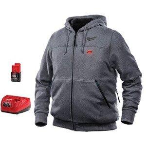 Milwaukee 301G-21-2X M12 Gray Heated Hoodie Kit XXL