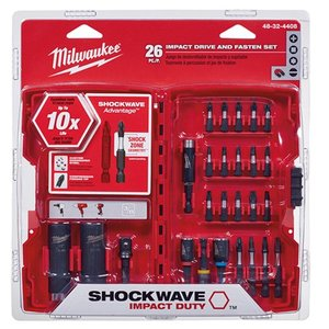 Milwaukee 48-32-4408 26-Piece Impact Drive and Fasten Set