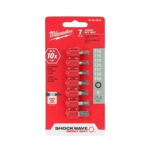 Milwaukee 48-32-4615 7-Piece Shockwave Torx Insert Bit Set