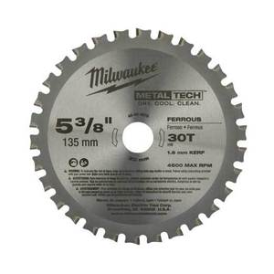 Milwaukee 48-40-4070 Circular Saw Blade, Metal, 30 TPI, 5-3/8""