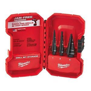Milwaukee 48-89-9221 3-Piece Step Drill Bit Set