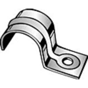 "Minerallac 115 Rigid Conduit Strap, 1-Hole, 3/8"", Steel"