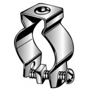 """Minerallac 1B Conduit Hanger with Bolt, Diameter: 3/4"""", Steel"""