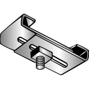 Minerallac 2SC4 Flange Clip, Two-Piece, Adjustable, Thread: 1/4-20, Steel