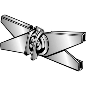 "Minerallac SCX1W T-Bar Hanger, Type: Scissor, Size: 1"", Thread: 1/4-2, Steel/Zinc"