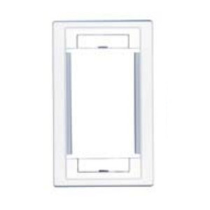 Molex Premise Networks WUS-00001-01 Multimedia Outlet, USO II, Wallplate, 1-Gang, Alpha Icons, Almond