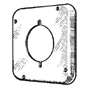 """Mulberry Metal 11522 4-11/16"""" Square Exposed Work Cover, (1) Dryer/Range Receptacle"""