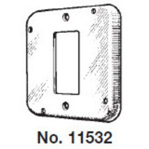 """Mulberry Metal 11532 4-11/16"""" Square Exposed Work Cover, (1) GFCI/Decora Receptacle"""