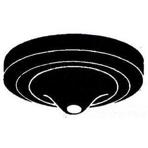 "Mulberry Metal 40418 Ceiling Outlet Blankup Canopy, 5"" Diameter"